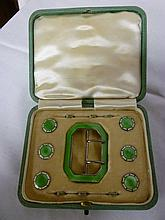 An Edward VII silver and enamelled ladies buckle a
