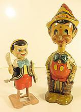 Two Marx Walt Disney Wind Up Pinocchios