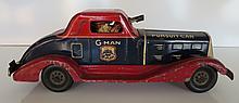 Marx G-Man Tin Pursuit Car