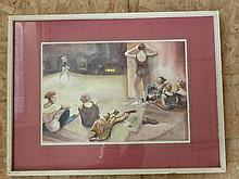 Watercolor of Dancers on State