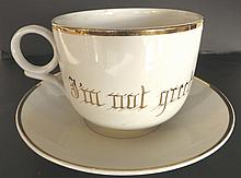 Victorian Oversized Novelty Cup and Saucer