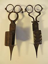Two Early 19th Century Candle Scissors