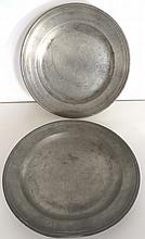 Two Early Pewter Plates