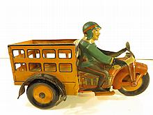 Marx Speed Boy 4 Tin Delivery Motorcyle