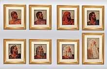Arnold Friberg's Original Paintings of the Eight Faces of Moses