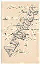 Autograph -  Harriet Hosmer, Harriet Goodhue Hosmer, Click for value