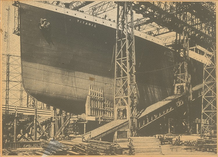 Titanic Construction in Shipyard