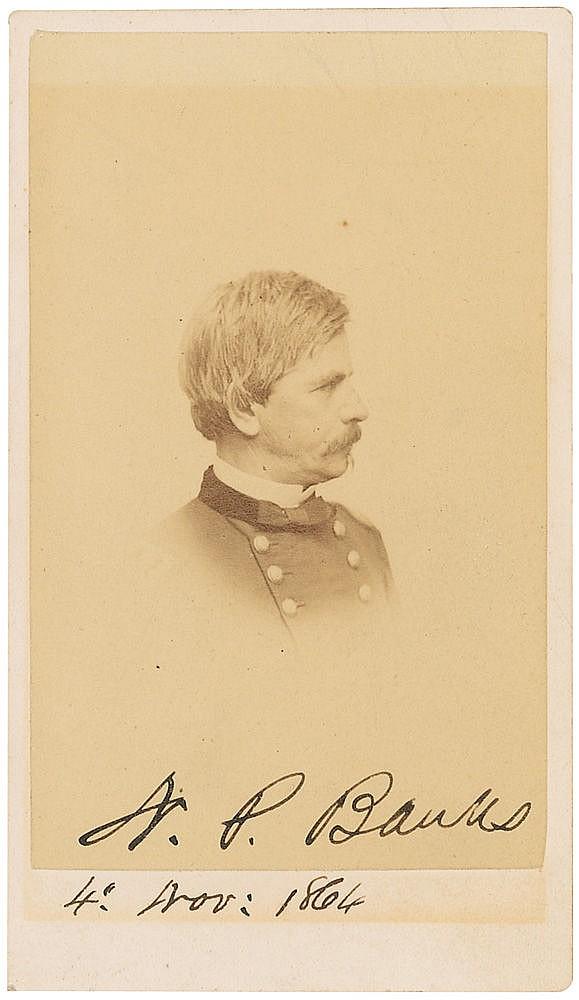 Autograph -  Nathaniel P. Banks