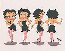Betty Boop model sheet painting likely used for merchandising