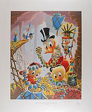 Carl Barks limited edition signed lithograph 'First National Bank of Cibola'
