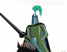 Knight on Horse production cel from The Truth About Mother Goose
