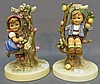 TWO HUMMEL FIGURINE CANDLE HOLDERS