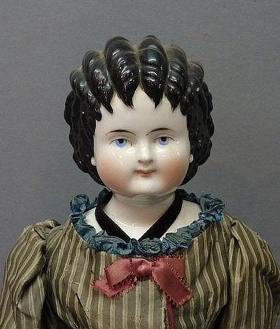 GERMAN CHINA HEAD DOLL 'CURLY TOP'
