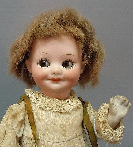 ARMAND MARSEILLE 'GOOGLY' BISQUE HEAD DOLL