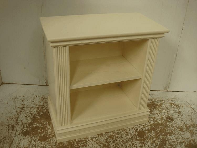 Small White Decorated Open Book Shelf/Cabinet