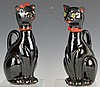 Shafford Japanese Porcelain Black Cat Cruet Pair