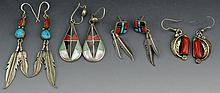 Zuni and Navajo Silver Earring Grouping