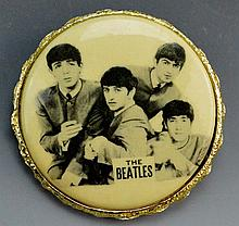 Beatles Vintage Brass Cello Brooch
