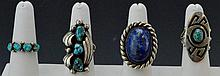 Navajo Silver Ring Grouping