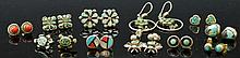Zuni and Navajo Earring Grouping