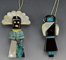 Zuni All Stone Kachina Pendant Grouping