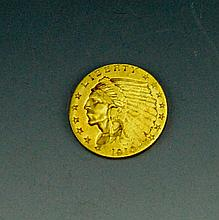 1910 $2.5 Gold Indian Quarter Eagle