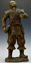 Bronze European Soldier Statue