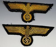 German WWII Eagle Patch Grouping