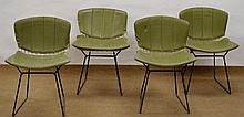 (4) Bertoia Knoll Wire Chairs