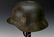 German WWII M1940 Stahlhelm Helmet