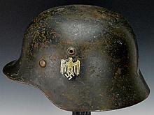 German WWII Army Combat Single Decal Helmet
