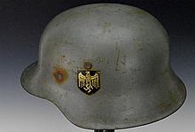 German WWII M1942 Stahlhelm Helmet