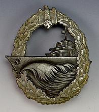 German WWII Destroyer War Badge