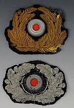 German WWII Visor or Hat Wreath Grouping