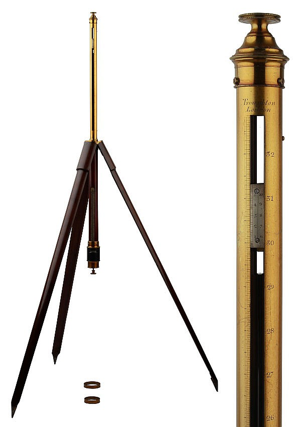 A rare Troughton 'Mountain Barometer', circa 1815,