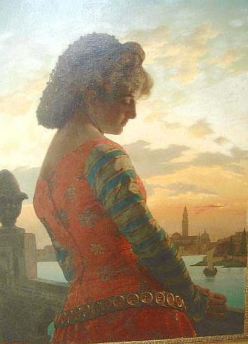 RAFFAELE GIANNETTI (1832-1916) - 90cm x 65cm oil