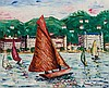 SUZANNE DUCHAMP, French (1889-1962), Port de Nice c. 1920's, oil on canvas, signed lower right., 19 3/4 x 24