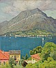 CHARLES WARREN EATON, American (1857-1937), Lake Como, oil on canvas, signed lower right., 24 x 20