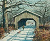 ERIC SLOANE, American (1905-1985), Covered Bridge in Fairfax, Vermont, oil on masonite, signed lower right, inscribed
