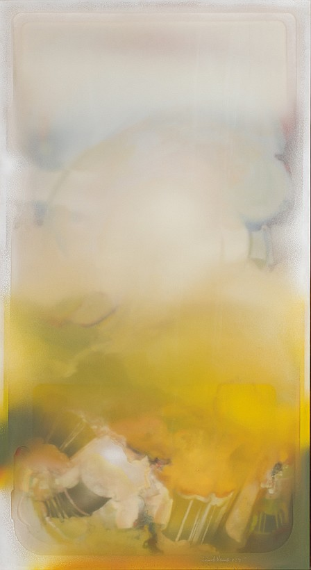 RICHARD VAUX, American (b. 1940), Untitled, acrylic on latex(3 layers), signed lower right and dated 1975., 64 x 35