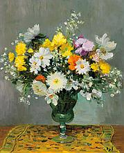 MARCEL DYF, French (1899-1985), Floral Still Life, oil on canvas, signed lower right., 28 3/4 x 23 3/4