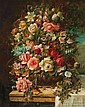 HANS ZATZKA, Austrian (1859-1945), Floral Still Life, oil on canvas, signed., 30 x 24