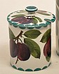 Wemyss jam pot and lid hand decorated in the plums