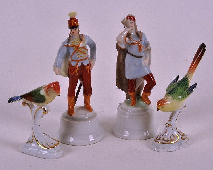 Herend porcelain miniature figures to include a