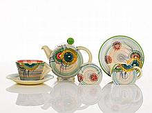 Clarice Cliff, 'Bizarre' Bachelor Tea Set