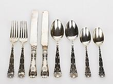Tiffany & Co., Part Wave Edge Pattern Flatware Service