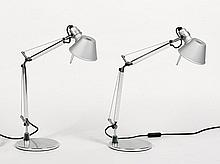 Michele De Lucchi (Italian, b. 1951), Giancarlo Fassina (Italian, b. 1935), Pair of Tolomeo Micro Table Lamps