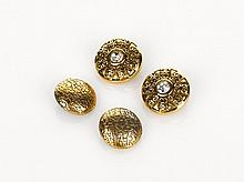 Chanel, Button Shaped Earrings