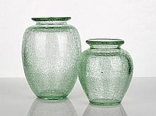 Daum Nancy, Green Glass Vase