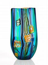 Peter Secrest, Murrini Glass Vase, 2004